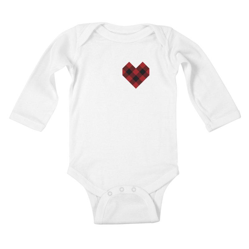 Plaid Life Kids Baby Longsleeve Bodysuit by busybee apparel
