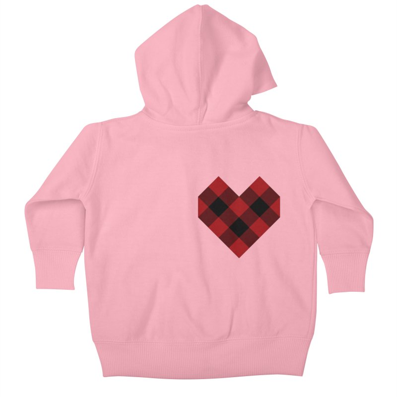 Plaid Life Kids Baby Zip-Up Hoody by busybee apparel