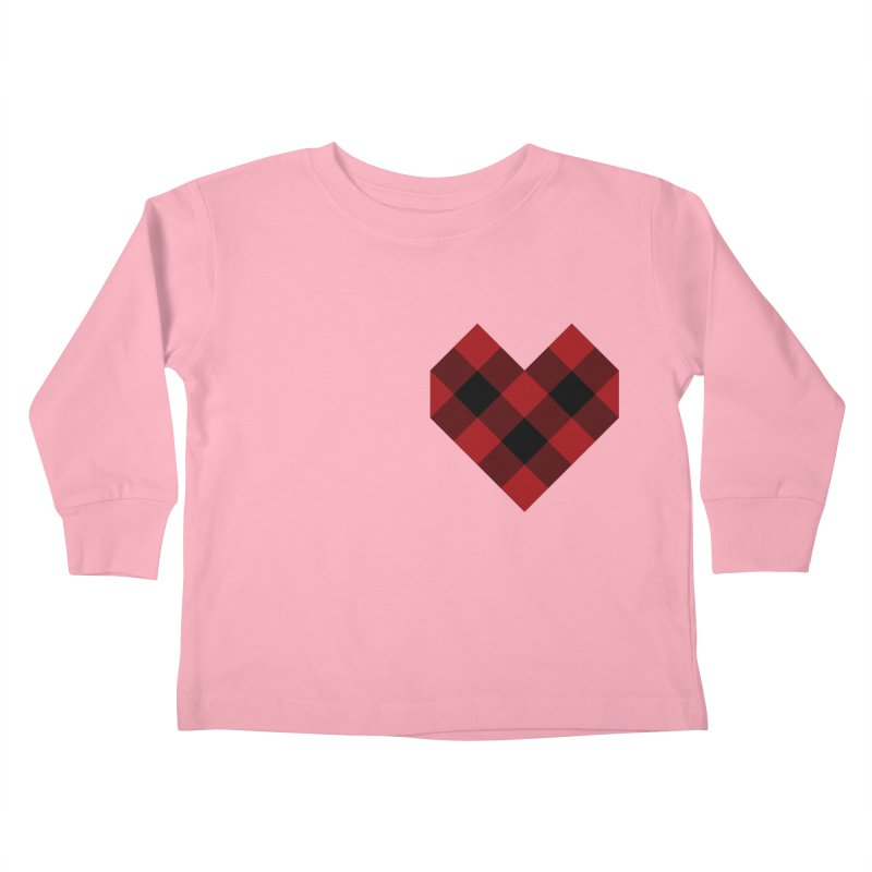 Plaid Life Kids Toddler Longsleeve T-Shirt by busybee apparel