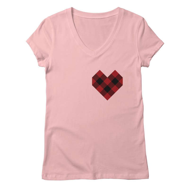 Plaid Life Women's Regular V-Neck by busybee apparel