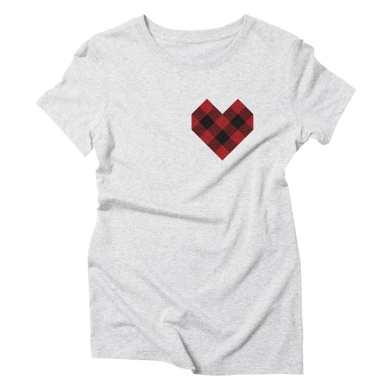 Plaid Life Women's Triblend T-Shirt by busybee apparel