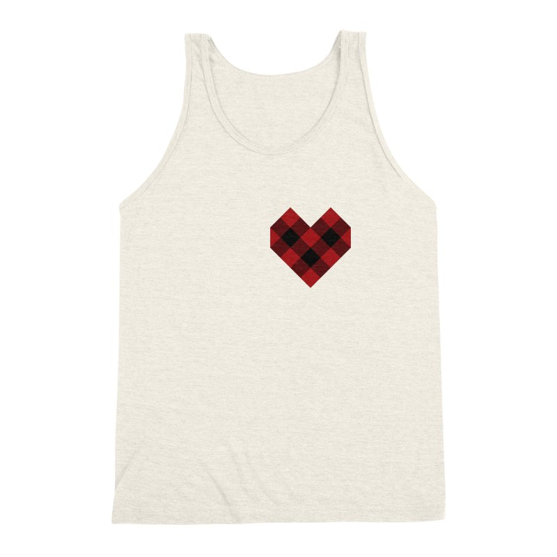 Plaid Life Men's Triblend Tank by busybee apparel