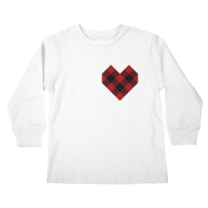 Plaid Life Kids Longsleeve T-Shirt by busybee apparel