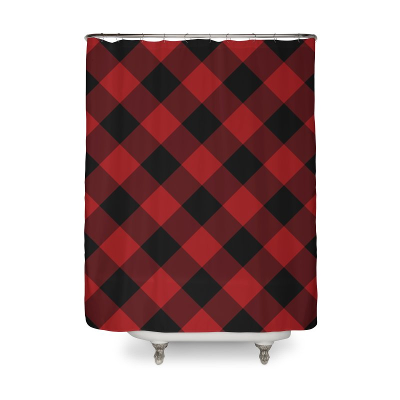 Plaid Life Home Shower Curtain by busybee apparel