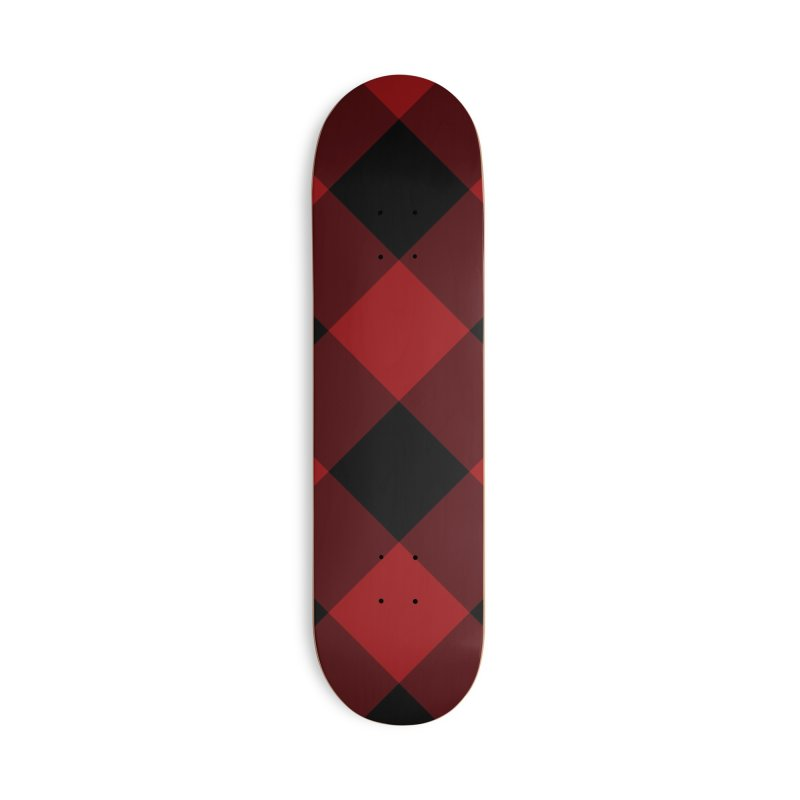 Plaid Life Accessories Skateboard by busybee apparel