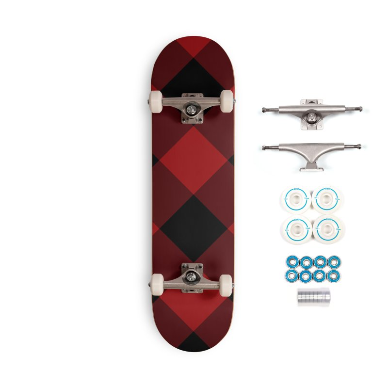 Plaid Life Accessories Complete - Basic Skateboard by busybee apparel