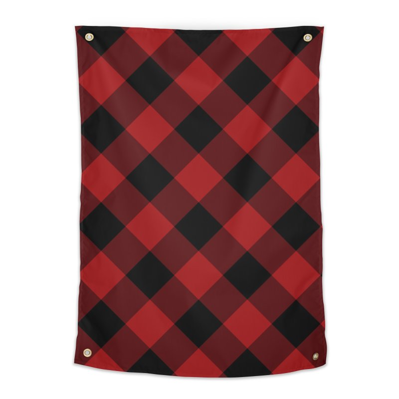 Plaid Life Home Tapestry by busybee apparel