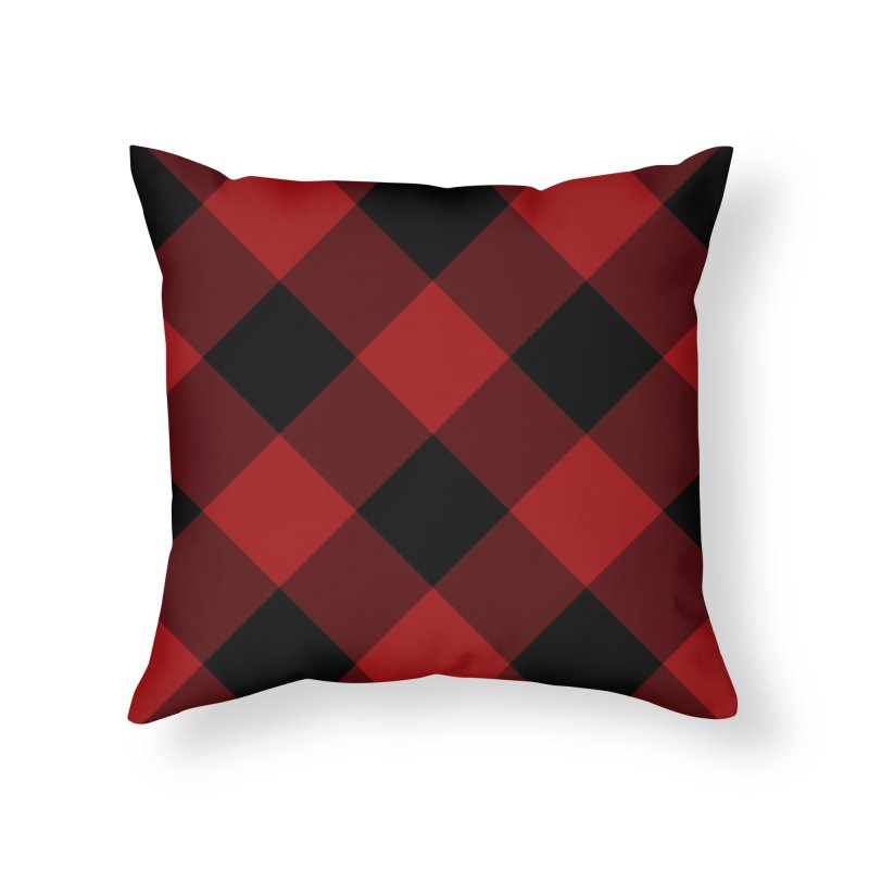 Plaid Life Home Throw Pillow by busybee apparel