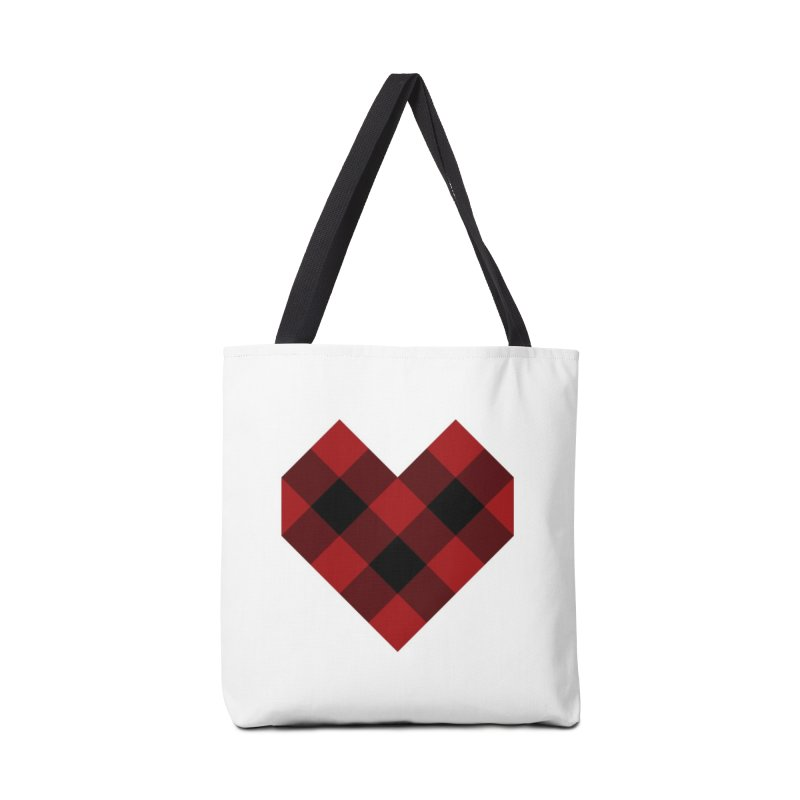 Plaid Life Accessories Tote Bag Bag by busybee apparel