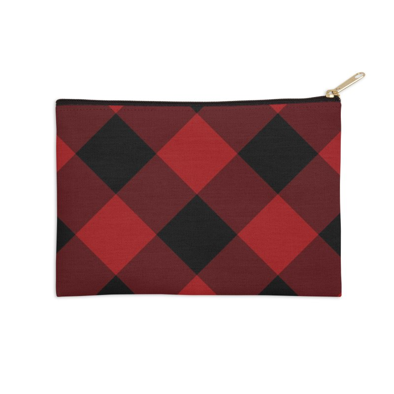 Plaid Life Accessories Zip Pouch by busybee apparel