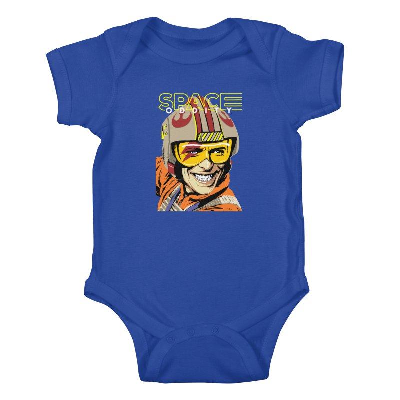 Space Oddity Kids Baby Bodysuit by butcherbilly's Artist Shop