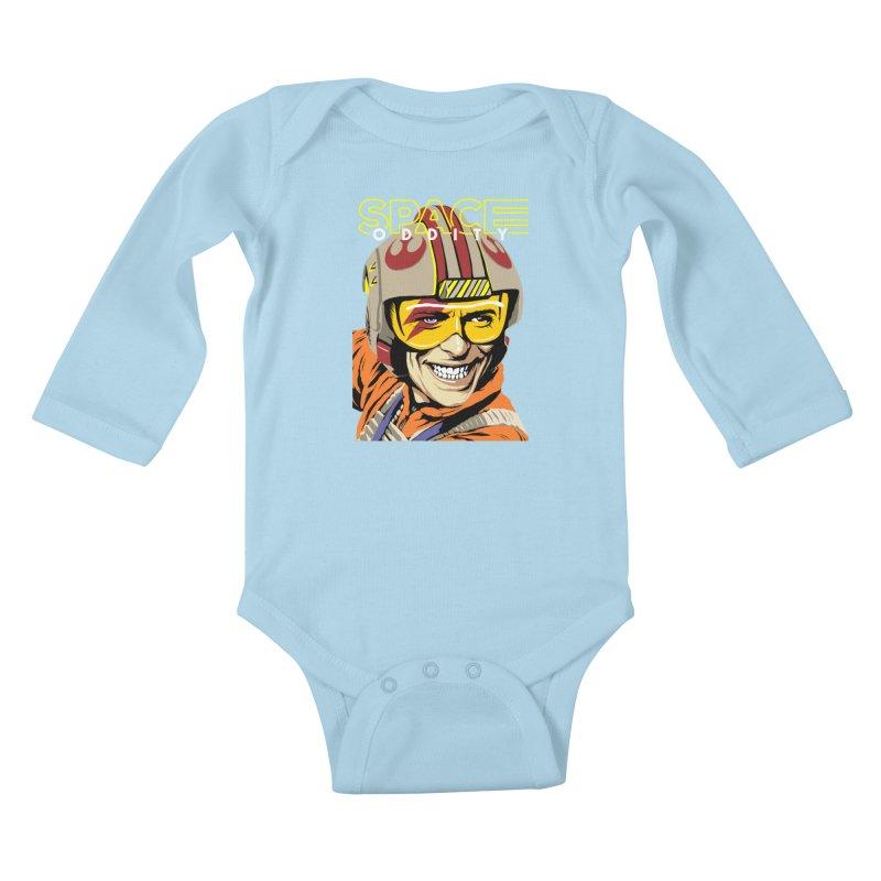 Space Oddity Kids Baby Longsleeve Bodysuit by butcherbilly's Artist Shop