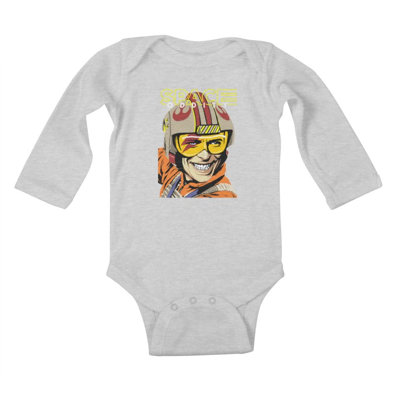 Space Oddity Kids Baby Longsleeve Bodysuit by butcherbilly's Artist Shop