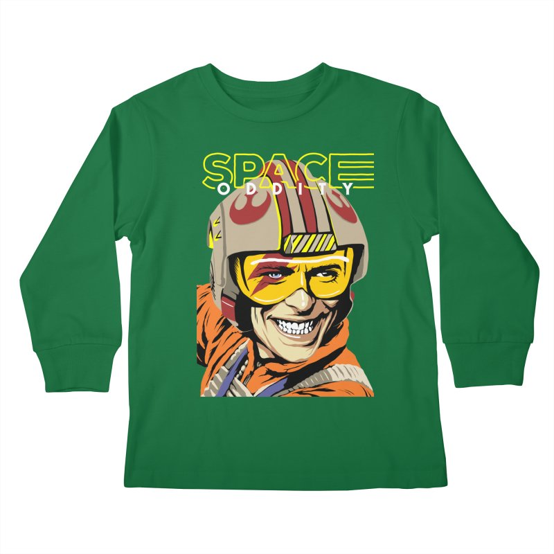 Space Oddity Kids Longsleeve T-Shirt by butcherbilly's Artist Shop