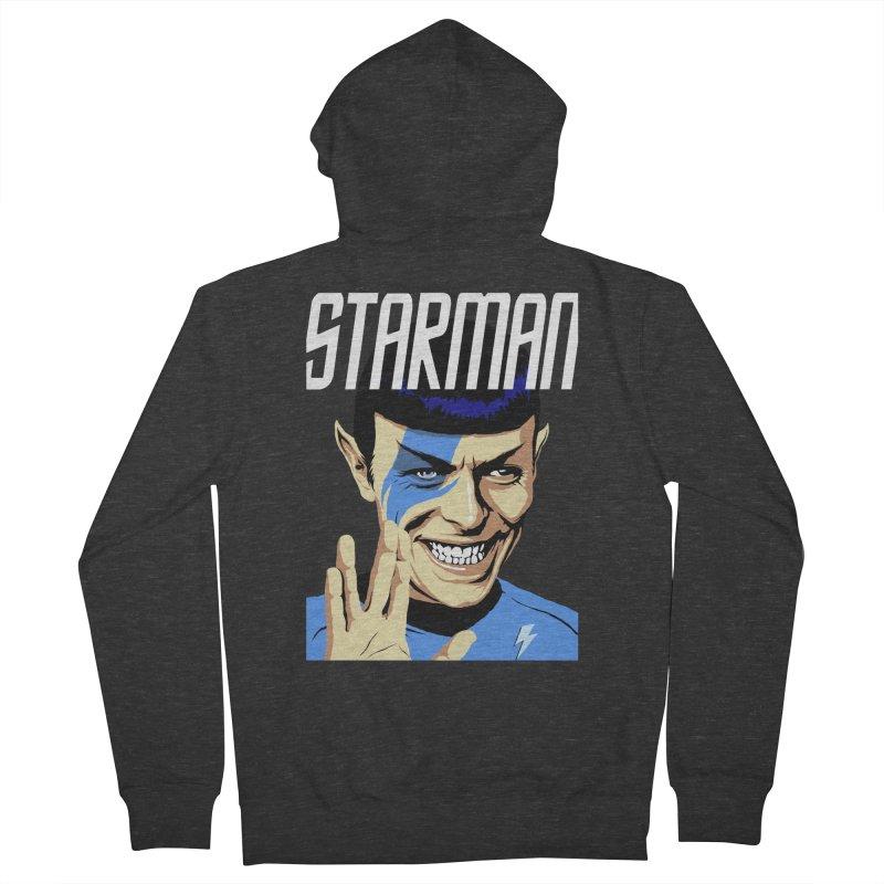 Starman Men's Zip-Up Hoody by butcherbilly's Artist Shop