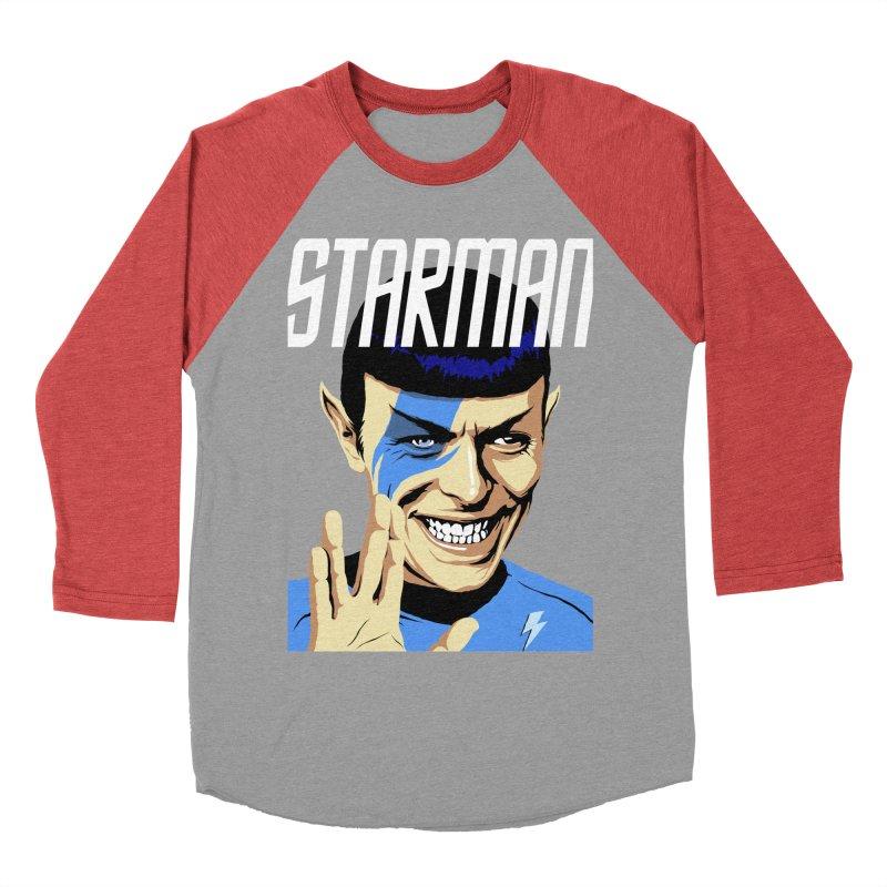 Starman Women's Baseball Triblend T-Shirt by butcherbilly's Artist Shop