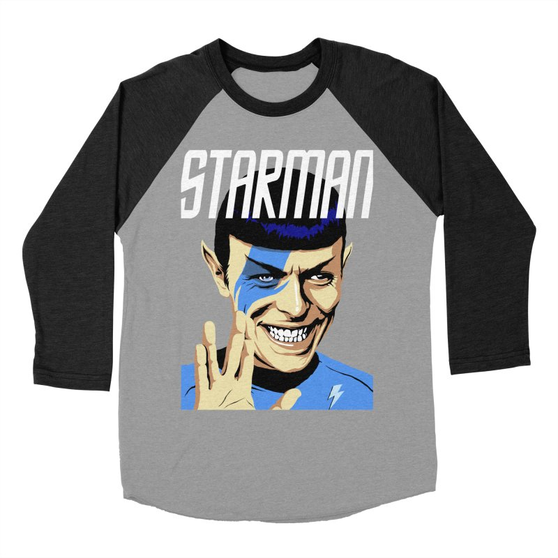 Starman Men's Baseball Triblend T-Shirt by butcherbilly's Artist Shop