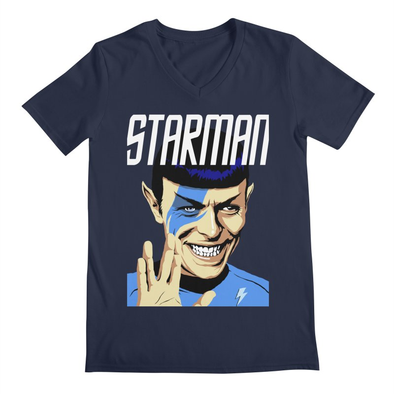 Starman Men's V-Neck by butcherbilly's Artist Shop