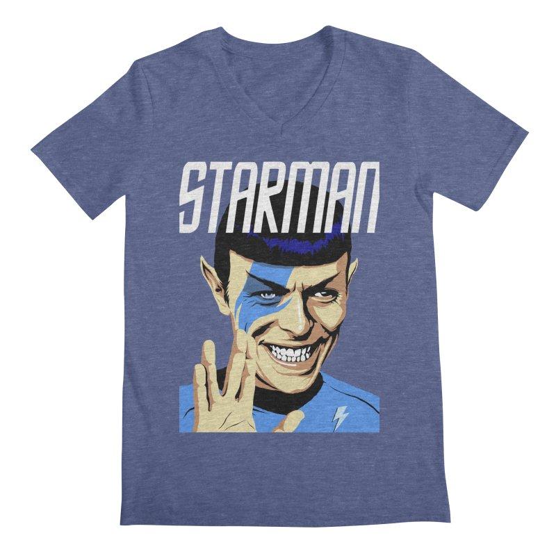 Starman Men's V-Neck by butcherbilly's Artist Shop