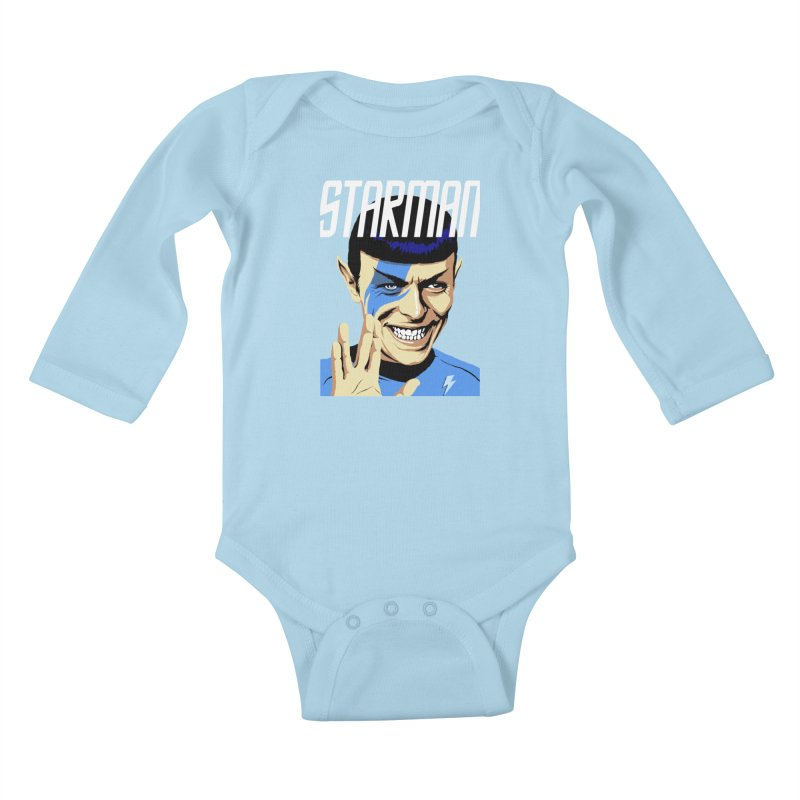 Starman Kids Baby Longsleeve Bodysuit by butcherbilly's Artist Shop