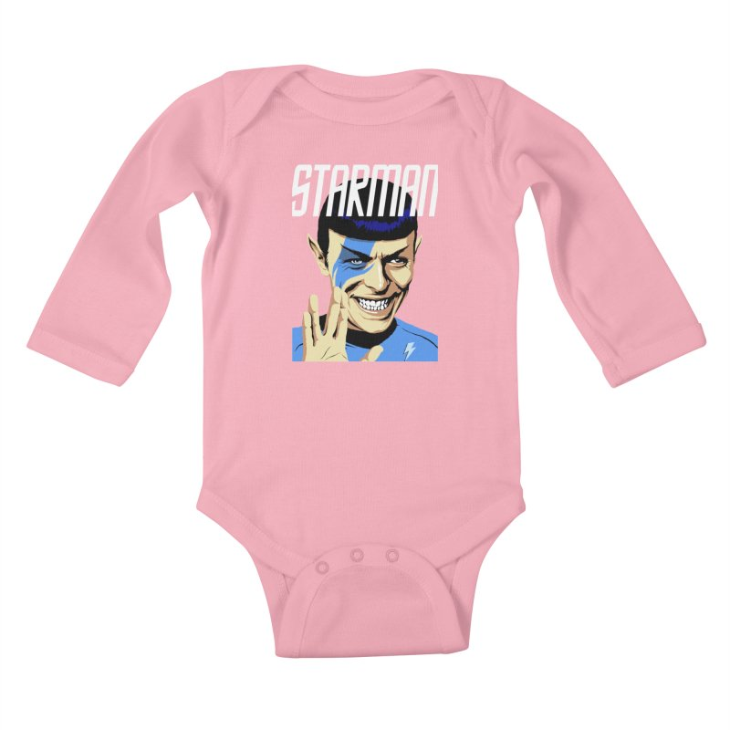 Starman Kids Baby Longsleeve Bodysuit by butcherbilly's Artist Shop