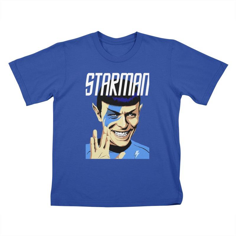 Starman Kids T-Shirt by butcherbilly's Artist Shop