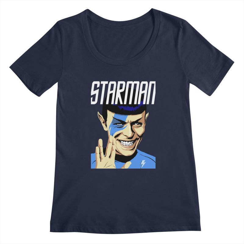 Starman Women's Scoopneck by butcherbilly's Artist Shop