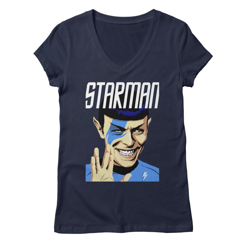 Starman Women's V-Neck by butcherbilly's Artist Shop