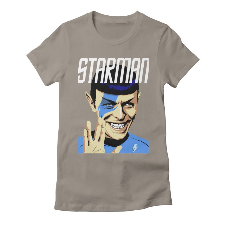 Starman Women's Fitted T-Shirt by butcherbilly's Artist Shop