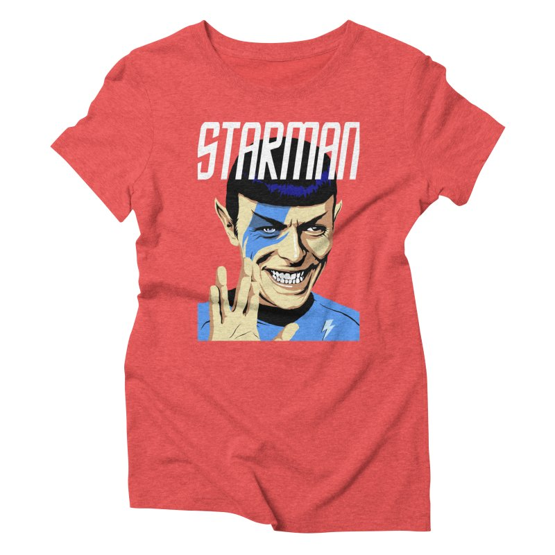 Starman Women's Triblend T-Shirt by butcherbilly's Artist Shop