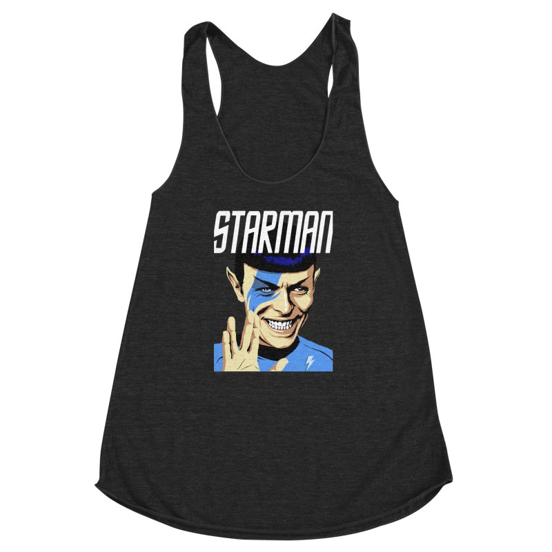 Starman Women's Racerback Triblend Tank by butcherbilly's Artist Shop
