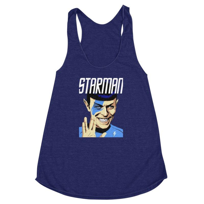 Starman Women's Racerback Triblend Tank by butcherbilly's Artist Shop