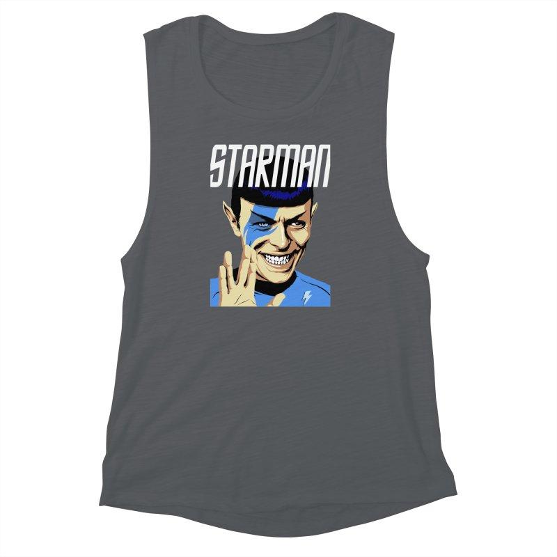 Starman Women's Muscle Tank by butcherbilly's Artist Shop