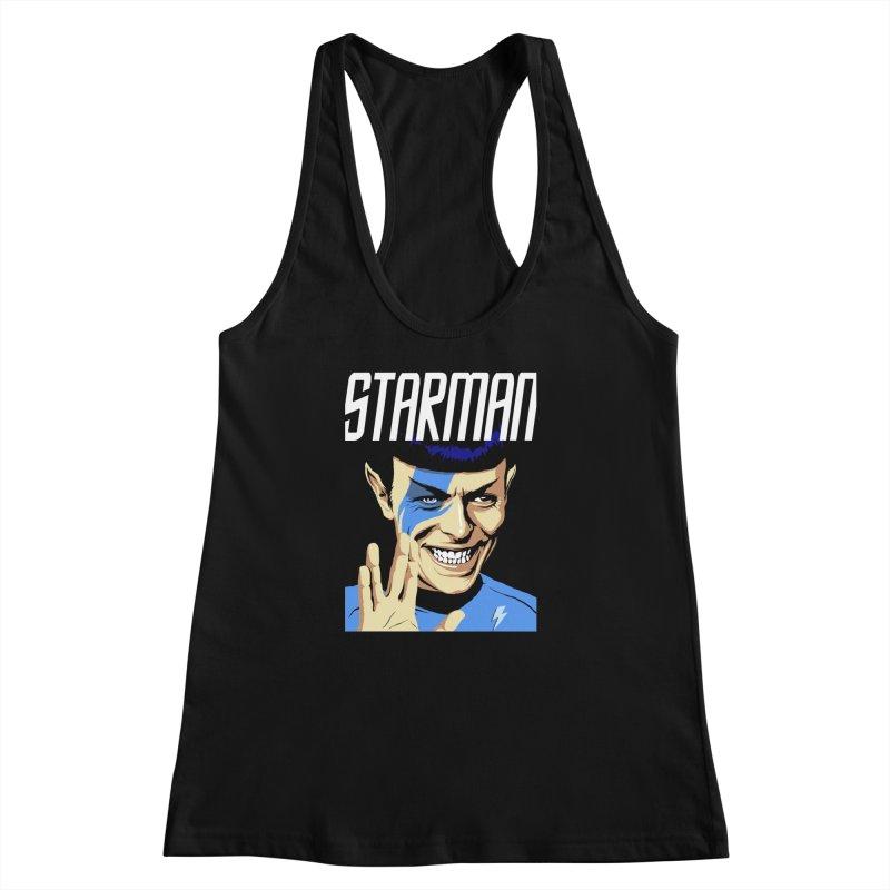 Starman Women's Racerback Tank by butcherbilly's Artist Shop