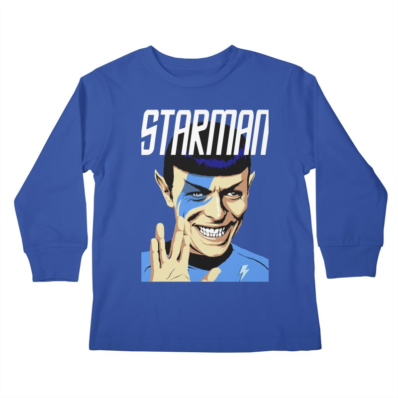 Starman Kids Longsleeve T-Shirt by butcherbilly's Artist Shop