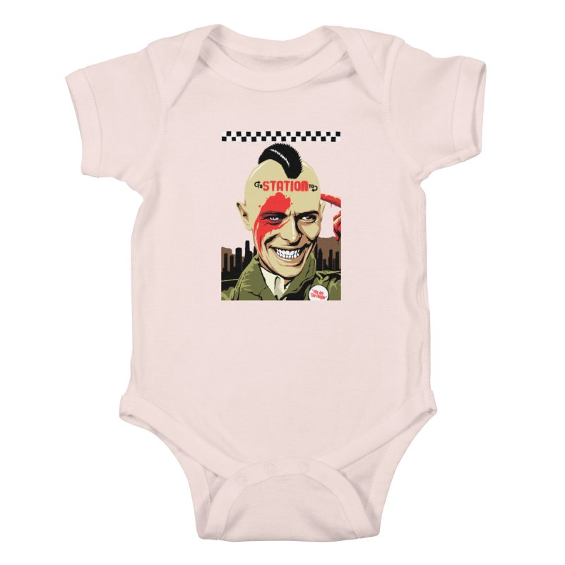 Station 2 Station  Kids Baby Bodysuit by butcherbilly's Artist Shop