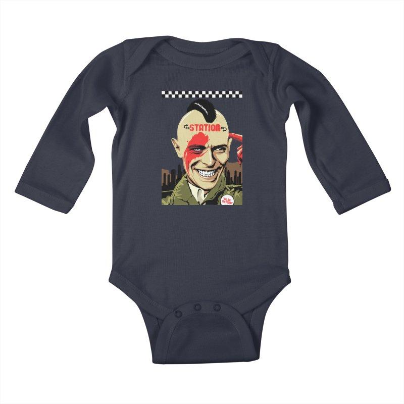 Station 2 Station  Kids Baby Longsleeve Bodysuit by butcherbilly's Artist Shop