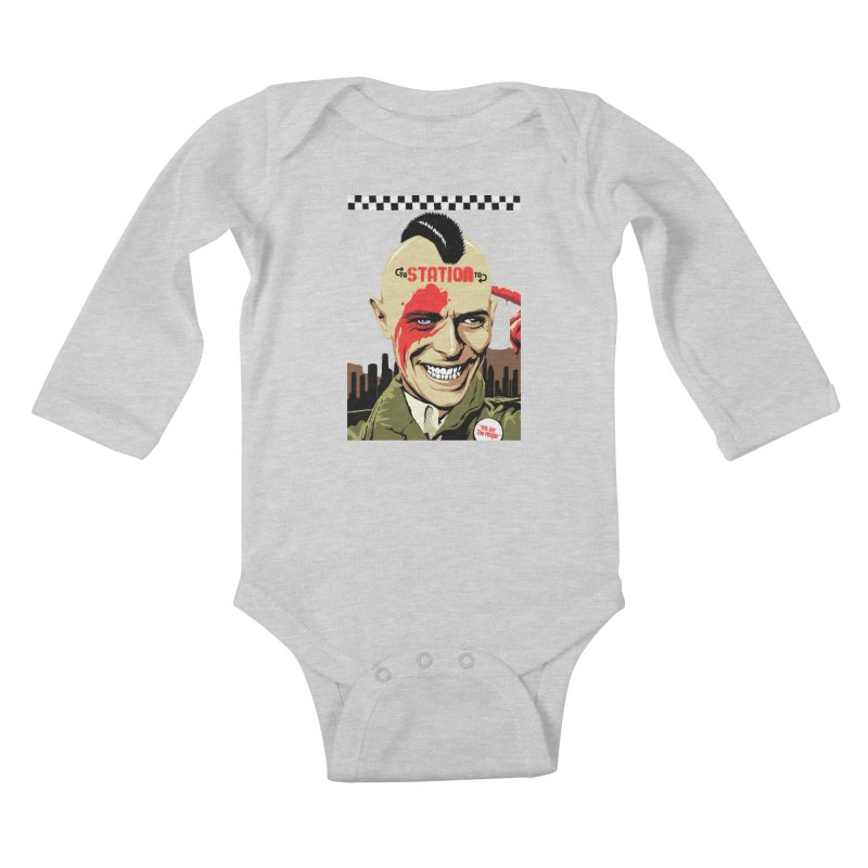 Station 2 Station  Kids Baby Longsleeve Bodysuit by butcherbilly's Artist Shop