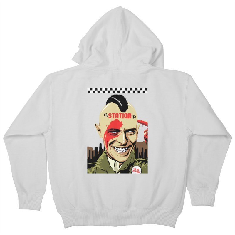 Station 2 Station  Kids Zip-Up Hoody by butcherbilly's Artist Shop