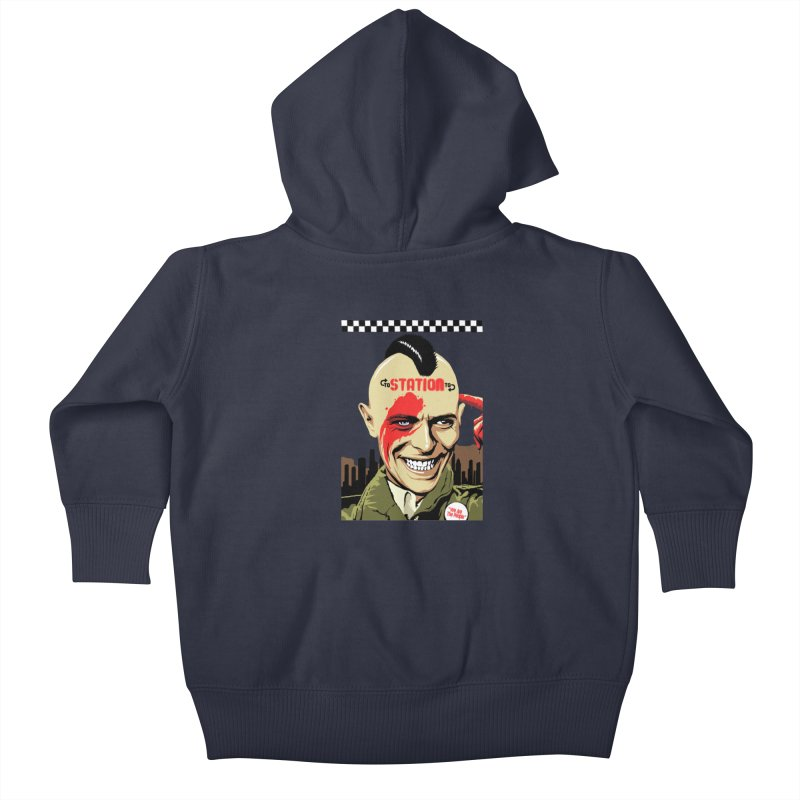 Station 2 Station  Kids Baby Zip-Up Hoody by butcherbilly's Artist Shop
