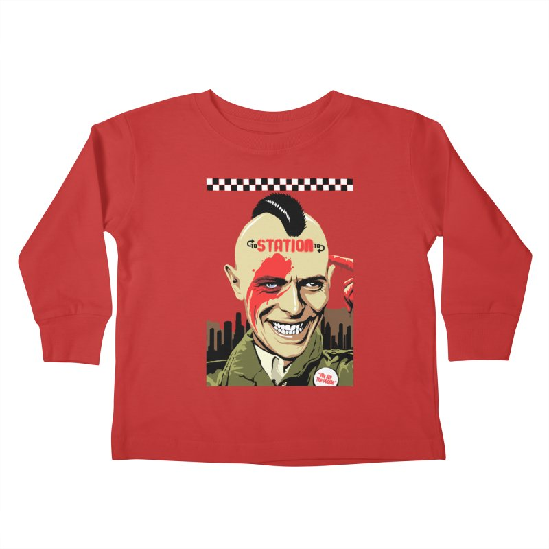 Station 2 Station  Kids Toddler Longsleeve T-Shirt by butcherbilly's Artist Shop