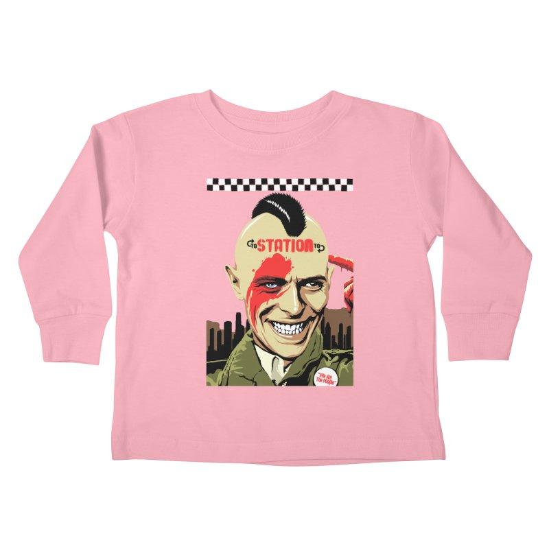 Station 2 Station  Kids Toddler Longsleeve T-Shirt by butcherbilly's Artist Shop