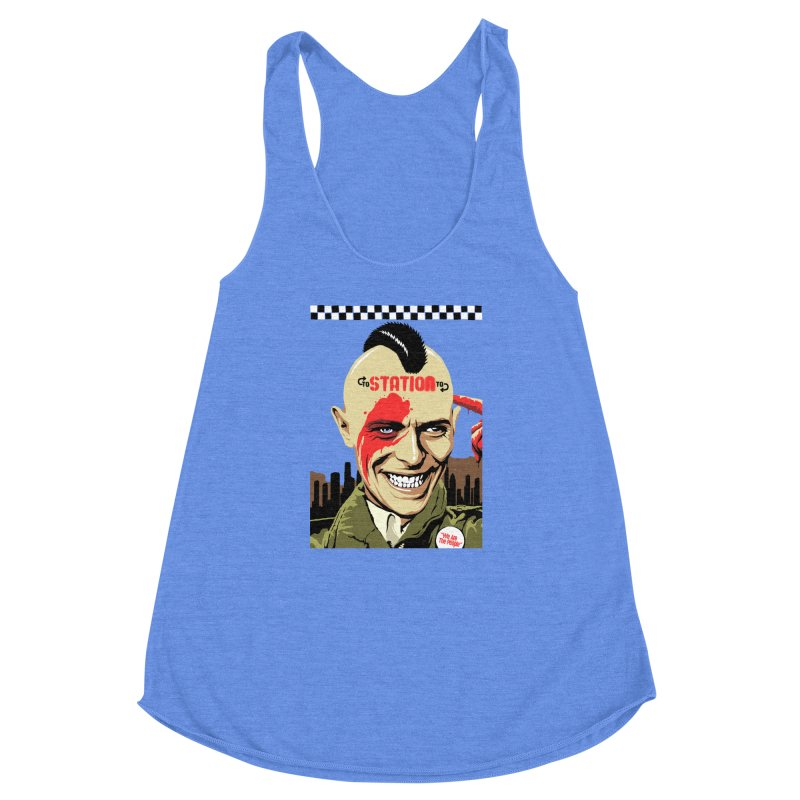 Station 2 Station  Women's Racerback Triblend Tank by butcherbilly's Artist Shop