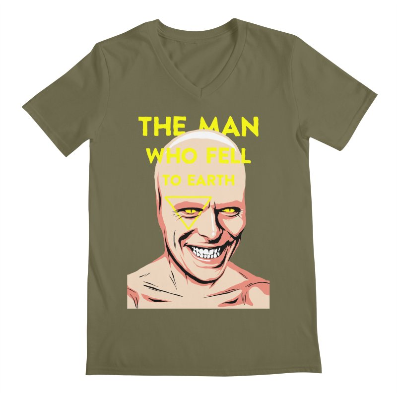 The Man Who Fell To Earth  Men's V-Neck by butcherbilly's Artist Shop