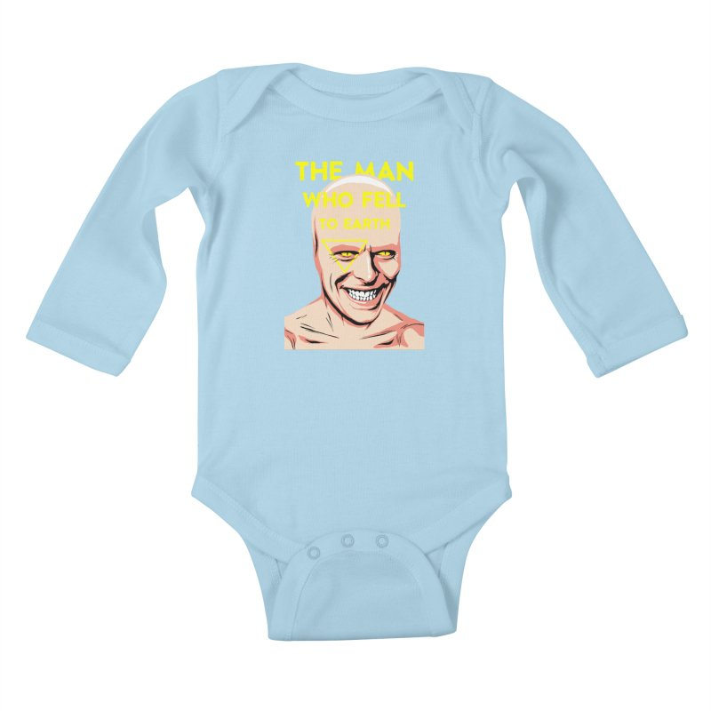 The Man Who Fell To Earth  Kids Baby Longsleeve Bodysuit by butcherbilly's Artist Shop