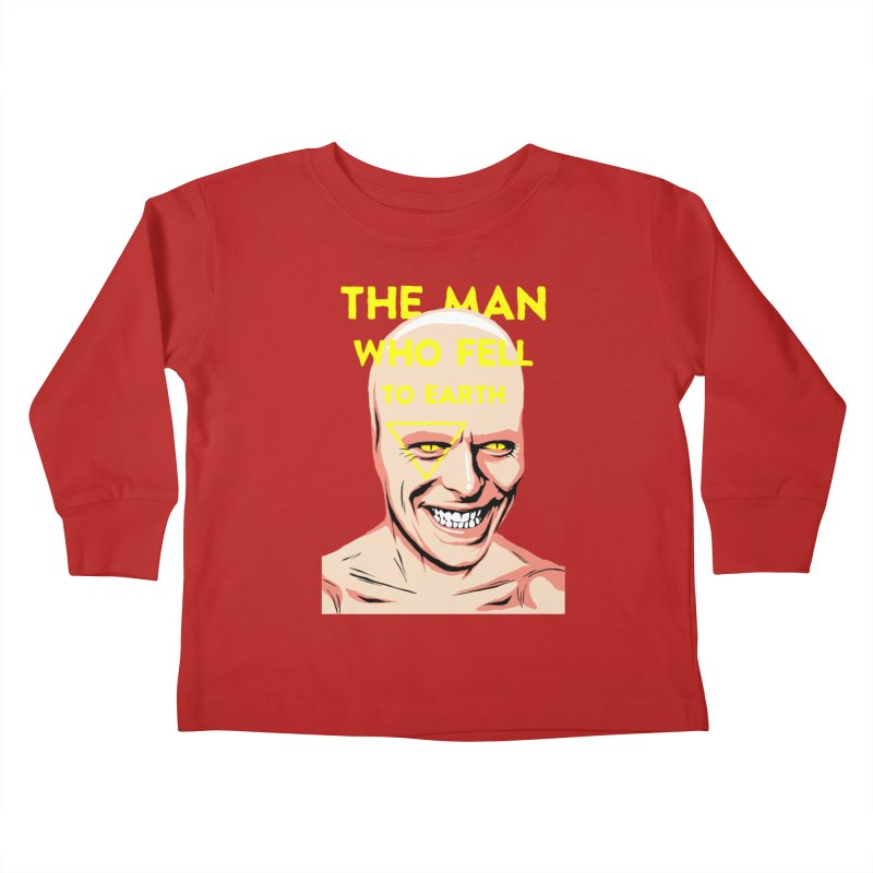The Man Who Fell To Earth  Kids Toddler Longsleeve T-Shirt by butcherbilly's Artist Shop