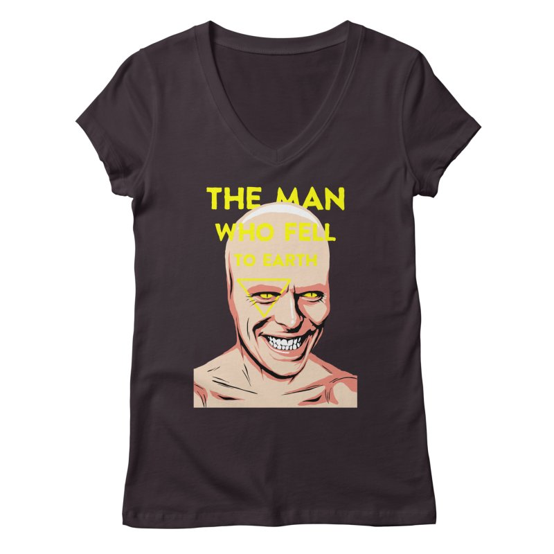 The Man Who Fell To Earth  Women's V-Neck by butcherbilly's Artist Shop