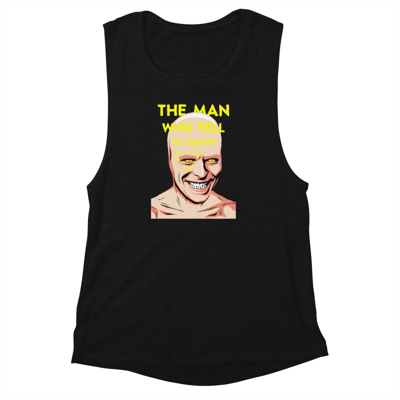 The Man Who Fell To Earth  Women's Muscle Tank by butcherbilly's Artist Shop