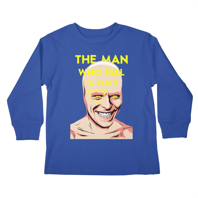 The Man Who Fell To Earth  Kids Longsleeve T-Shirt by butcherbilly's Artist Shop