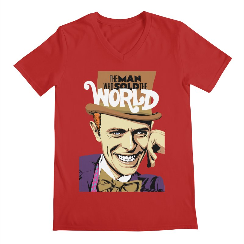 The Man Who Sold The World  Men's V-Neck by butcherbilly's Artist Shop